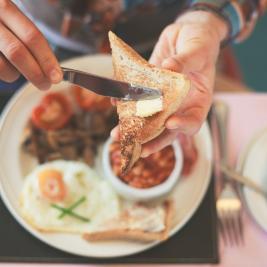 English breakfast at Hotel Marítim de Roses