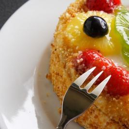 Dessert tart at the Cap de Creus restaurant in Roses