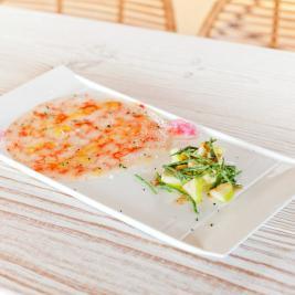 Carpaccio du restaurant Les Algues à Roses
