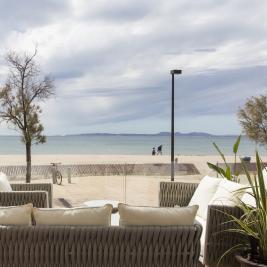 Terrassa amb vistes a la mar de Roses